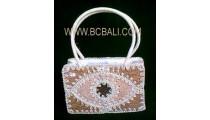 Natural Emboirdery Handbag