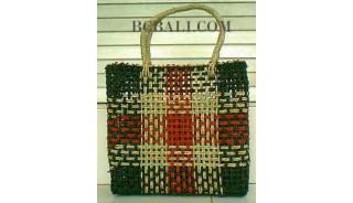 Square Handbags Straw