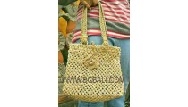 Woman Handmade Straw Bags