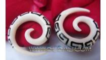 Asian Tribal Bone Earring Tattoo