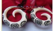 Bone Hooks Earrings Tribal
