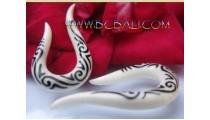 Bone Tattoo Earrings Tribal