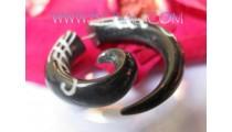 Split Tribal Tattoo Horn Piercing