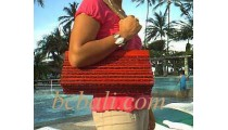 Handbags Bamboo Red