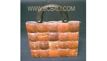 Natural Bamboo Coco Woods Bags