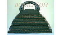 Oval Small Bamboo Bags