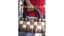 Asian Cocon Wooden Bags