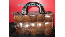Coco Wooden Natural Bags Brown
