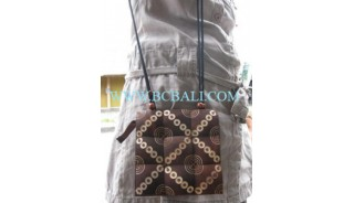 Coconut Casual Wooden Bags