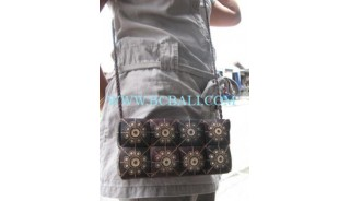 Ladies Coco Coin Carved Bags