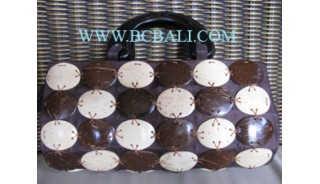 Natural Coconut Handbags Oval