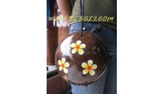 Natural Coconut Wooden Cosmetic Bags