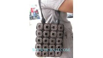 Square Coco Carved Handbags