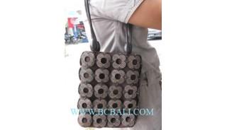 Square Coco Carved Handbags