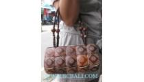 Woman Coconut Handbags Carving