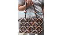 Wooden Coco Carving Handbags