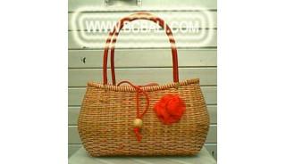 Handbag Handmade Rattan Fashion