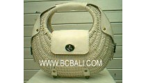 Mother Cosmetic Rattan Bag
