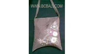 Canvas Emboirdery Woman Handbag