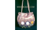 Cotton Bag With Beads