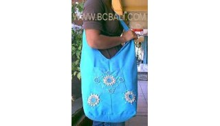 Cotton With Shell Hawaii Handbag