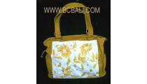 Mother Canvas Handbag Embroidery