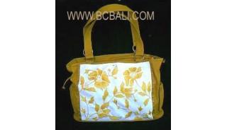 Mother Canvas Handbag Embroidery