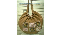 Woman Handbag Cotton Beaded