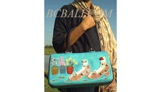 Small Application Leather Suede Handbags
