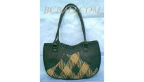 Fashion Leather Rattan Motif