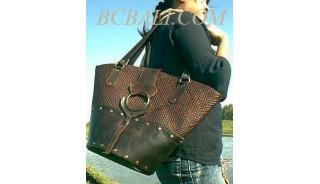 Leather Pandanus Brown