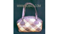 Rattan Leather Handbags