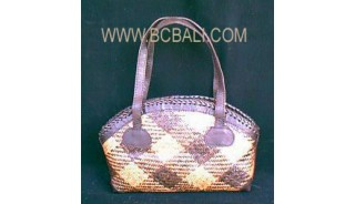 Rattan Leather Handbags