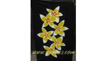 Floral Woman Sarong Painted