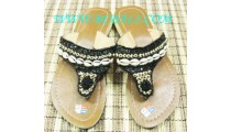 Bead Sandal With Cowry Shell