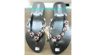Blumen Perle Damen Sandale