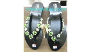 Eleganten Damen Sandale Flach