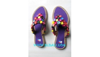 Fashionable Sandals From Beads