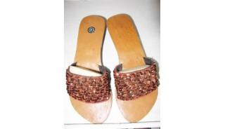 Ladies Bead Flip Flops
