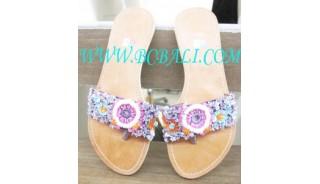 Rainbow Bead Shoes Sandal