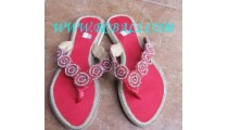Red Bead Shoes Sandal