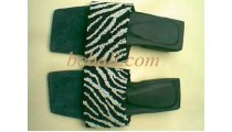 Sandals Black White
