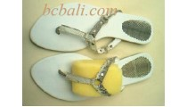 Sandals Mika Leather Snake