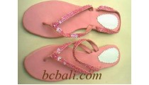 Sandals Vinil With Beads