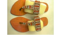 Sandals With Beads Decor
