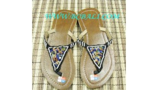 Stone Bead Sandals Supplier