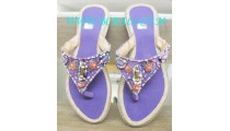 Unique Purple Bead Sandal