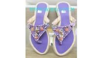 Unique Purple Bead Sandal