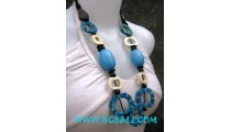 Blue Necklace Bone Fashion