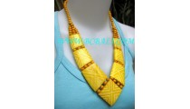 Bone Necklaces Carving Indian